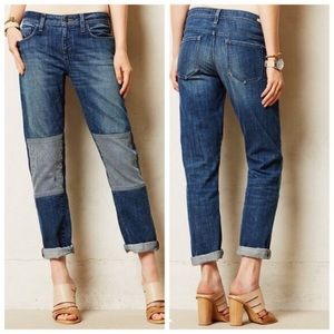 Pilcro and the Letterpress Patch Knee Jeans